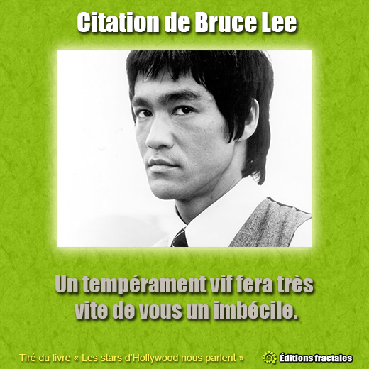 Citation de Bruce Lee
