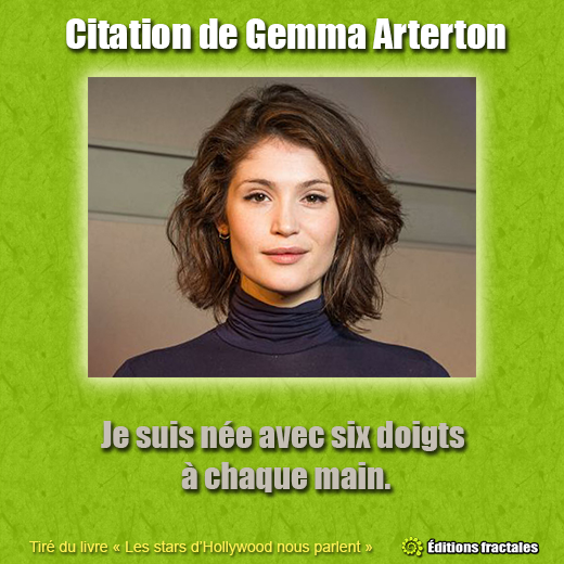 Citation de Gemma Arterton