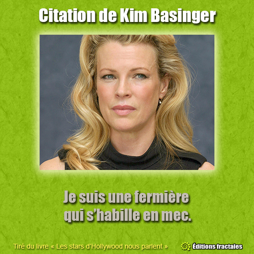 Citation de Kim Basinger