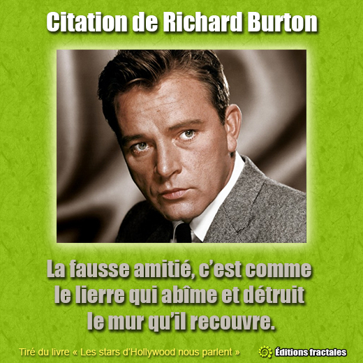 Citation de Richard Burton par David TELLIER