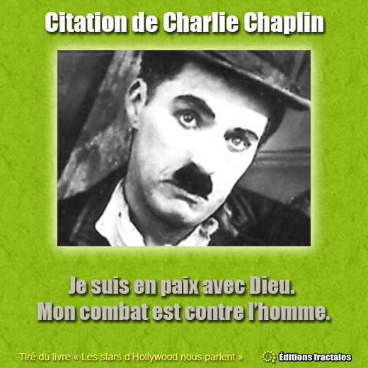 Citation de Charlie Chaplin par David TELLIER