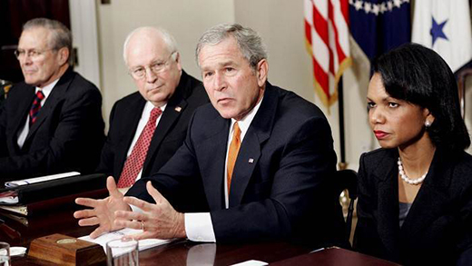 Donald Rumsfeld, Dick Cheney, George W. Bush, Condoleezza Rice