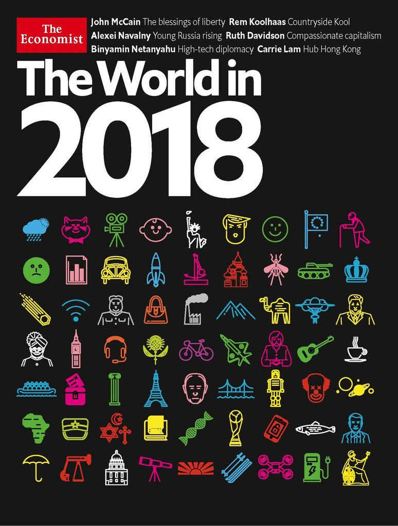 The world in 2018 economist : cover